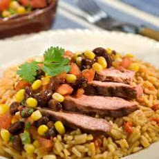 Steak & Fajita Rice With Black Bean & Corn Salsa