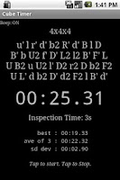 Screenshot of Cube Timer