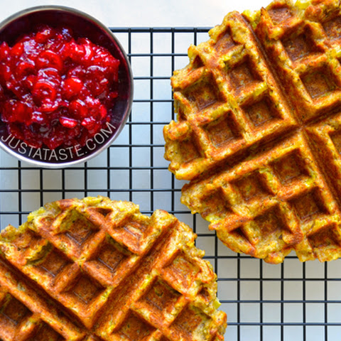Sausage and Corn Bread Stuffing Waffle Recipe | Yummly