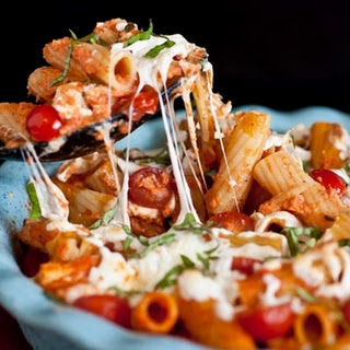 Grilled Chicken Caprese Pasta