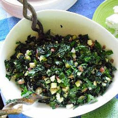 Kale Salad with Currants and Gorgonzola