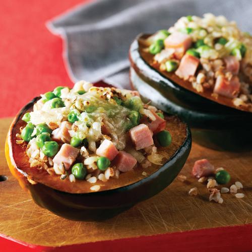 Ham & Swiss-Stuffed Acorn Squash Recipe | Yummly