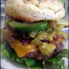 Delicious Burger with Gluten Free Bun!