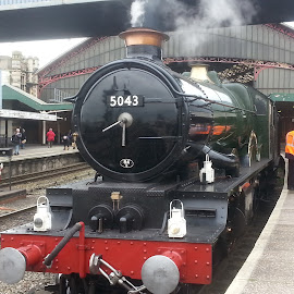 GWR Castle Class 4-6-0 no 5043 Earl of Mount Edgcumbe by Andro Andrejevic - Instagram & Mobile Android ( gt-i9300, steam locomotive, samsung galaxy s3, castle class, 5043 )