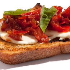 Roasted Tomato and Fresh Mozzarella Bruschetta Recipe