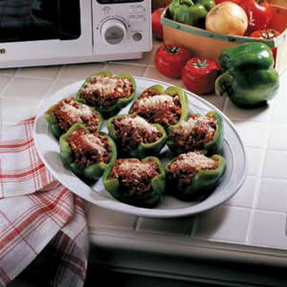 Stuffed Green Pepper Cups