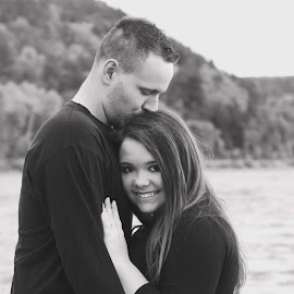 Engagement by Ali Platt - People Couples ( black and white, matte, couple, cute, engagement )