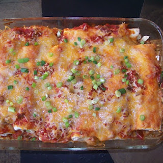 Baked Chicken Cheese Enchiladas