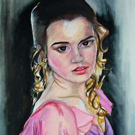 HERMIONE GRANGER by Krishna Sharma - Painting All Painting ( #painting #harrypotter #artforsale #watercolors #paper #mywork )