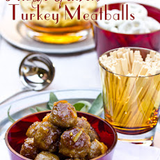 Turkey Meatballs with Orange Marmalade Glaze