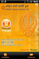 Screenshot of Amrit Bani Radio UK