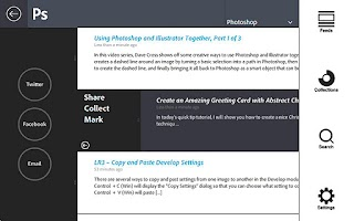Screenshot of Adobe ThRead