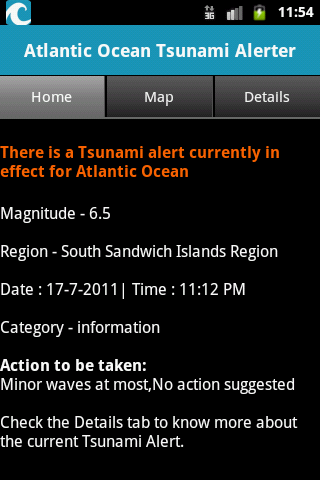 Atlantic Ocean Tsunami Alerter