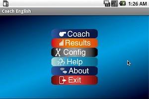 Screenshot of Coach English