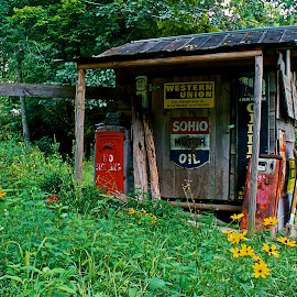 Fill-er Up by Dan Ferrin - Buildings & Architecture Decaying & Abandoned ( old, gas station, pumps, gas pumps, abandoned )