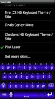 Screenshot of Blue Laser HD Keyboard Skin