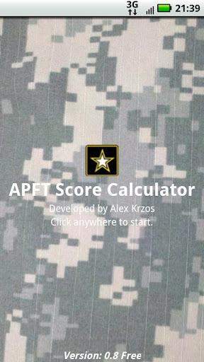 APFT Calculator w Score Log