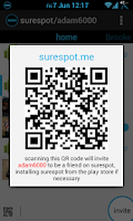 Screenshot of surespot encrypted messenger