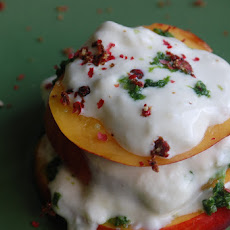 Nectarine and Ricotta Stack - a Riff on Caprese