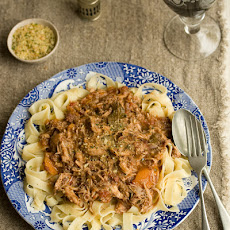 Rabbit Ragout With Tagliatelle