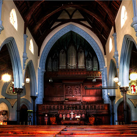 Green Market Square Methodist Church  by Robert Johnson - Buildings & Architecture Places of Worship ( altar, church, pews, architecture, worship )