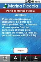 Screenshot of InPorTra Porto Marina Piccola