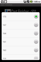 Screenshot of Dart Finishes