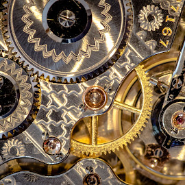 Keeping Time by Gary Hanson - Artistic Objects Antiques ( pocket watch, silver and gold, jewels, gears, time keeper,  )