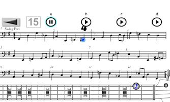 Screenshot of Play Bass: Rock, Blues, Jazz