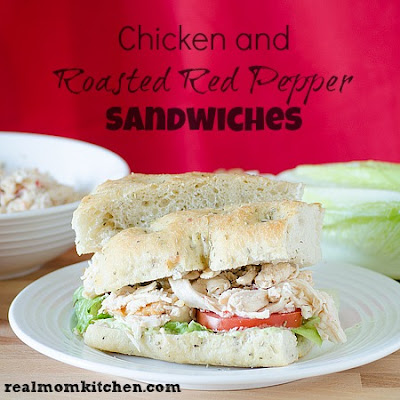 Roasted Red Pepper and Chicken Sandwiches