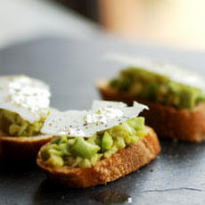 Chopped Fava Bean Crostini with Pecorino Recipe