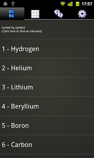 periodic-droid for android screenshot