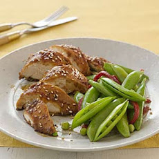 Hoisin-Glazed Chicken With Sugar Snap Peas