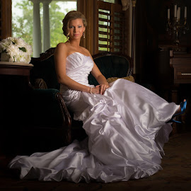 Bride Inside by Jody Johnson - Wedding Bride ( photorad, madison house, blue shoes, victorian, bride )