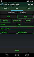 Screenshot of Simple Pilot Logbook