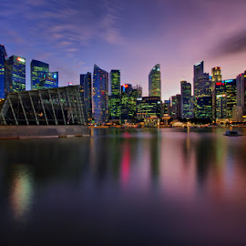 Colourful Skyine by Ken Goh - City,  Street & Park  Skylines