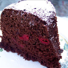 Microwave Chocolate Cherry Snack Cake