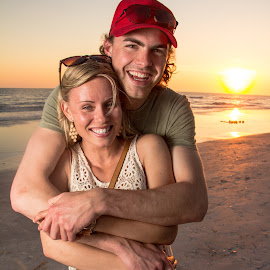 Beauty and the beach  by Jervaris Kirkland - People Couples ( sunset, canon 60d, beach, st pete )