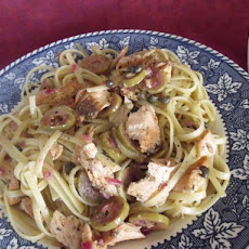 Linguine With Roasted Salmon and Lemon