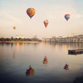 by Rozi Rahman - Instagram & Mobile iPhone ( hotairballoonputrajaya, putrajaya, iphonegraphy )