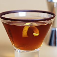 Chocolate-Ginger Martini with Cayenne-Spiked Rim