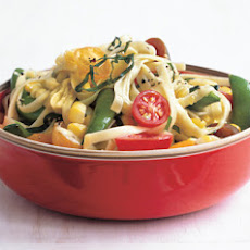 Linguine with Summer Succotash