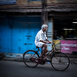 One Man and His Bicycle by Georgia Darlow - People Street & Candids ( cochin, india, kerala, man, bicycle )