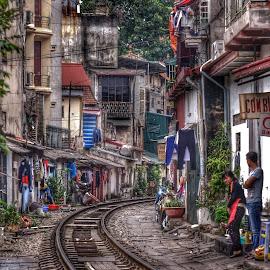 Hanoi 'street' scene by Dennis Rudge - City,  Street & Park  Street Scenes ( street, hanoi, vietnam )
