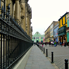 Lima by Jaclyn T - City,  Street & Park  Historic Districts ( urban, fence, street, people, city, Urban, City, Lifestyle )