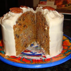 Carrot Cake With Pecan Cream Filling and Cream Cheese Icing