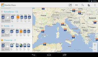 Screenshot of Weather Maps Beta