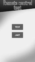 Screenshot of TV remote control test