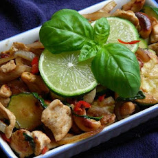 Basil Chicken and Cashew Nuts