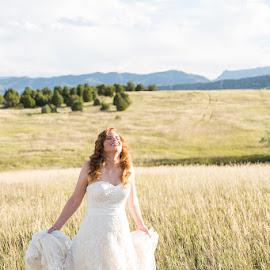 Happiness by Brooke Green - Wedding Bride ( natural light, bridal portraits, wedding, outdoor, bride )